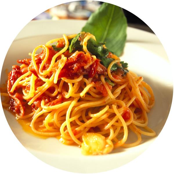 Spaghetti con tomate e iO Antioxidante Natural